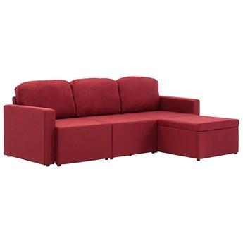 Rozkładana sofa modułowa czerwone wino - Lanpara 4Q