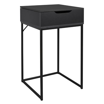 Praktyczna szafka nocna czarna - Marlet