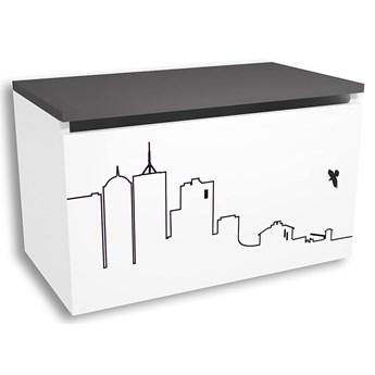 Biało-grafitowa skrzynia dziecięca - Timi 17X