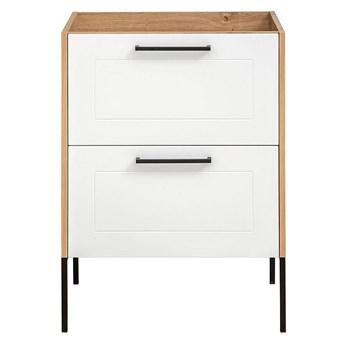 Biała stojąca szafka pod umywalkę - Saloma 3X 60 cm