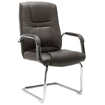Szare tapicerowane krzesło biurowe - Glomer 2X