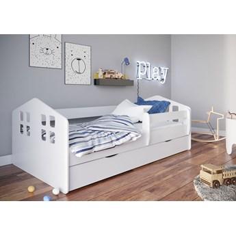 Białe łóżko dziecięce ze stelażem 80x180 - Flavio
