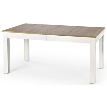 Stół rozkładany Daniels - biały + dąb sonoma