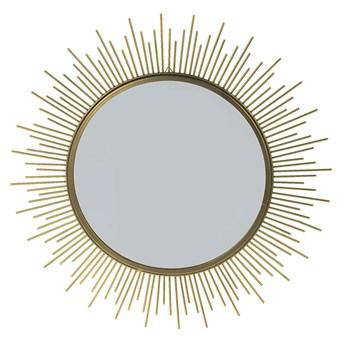 Glamour lustro Reos - złote