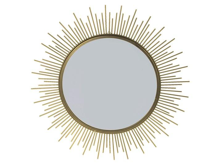 Okrągłe złote lustro w stylu glamour - Reos