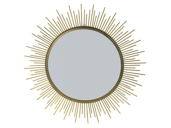 Glamour lustro Reos - złote Lustro z ramą Ścienne Okrągłe Styl Vintage