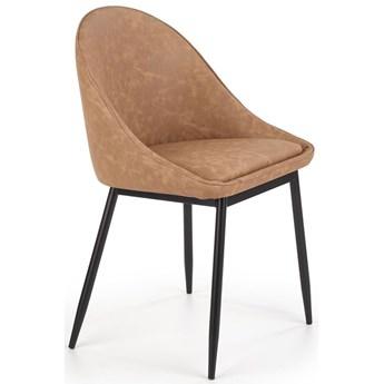 Tapicerowane krzesło muszelka Bono - jasny brąz