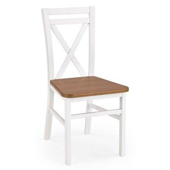Krzesło skandynawskie Dario - Białe-olcha