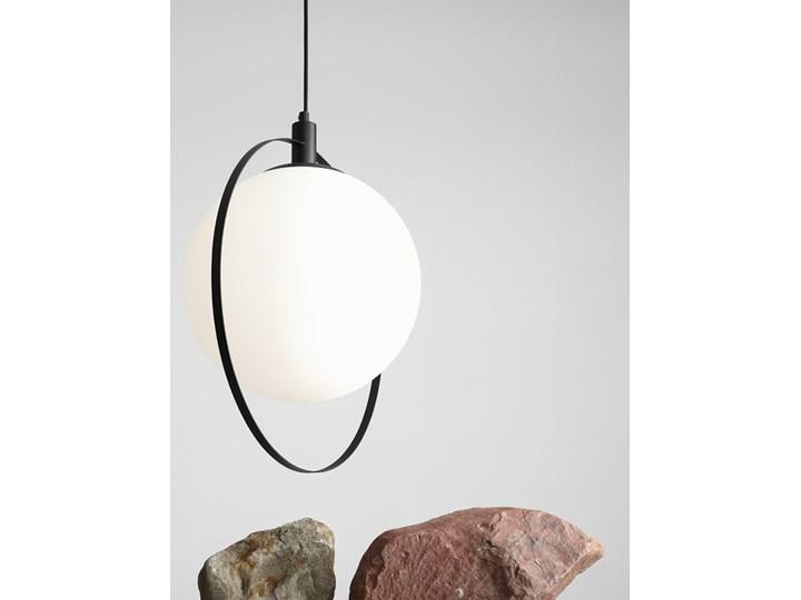 Designerska lampa wisząca Bersi Złoty Lampa LED Metal Szkło Kolor Biały