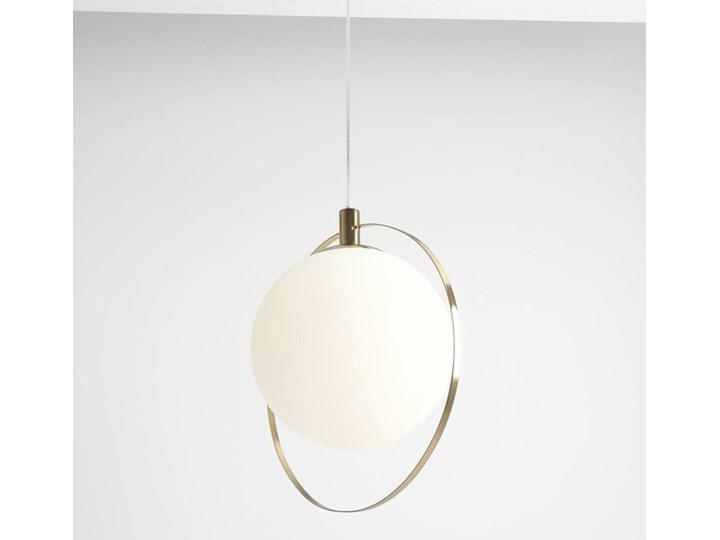 Designerska lampa wisząca Bersi Złoty Lampa LED Metal Kolor Biały Szkło Kategoria Lampy wiszące