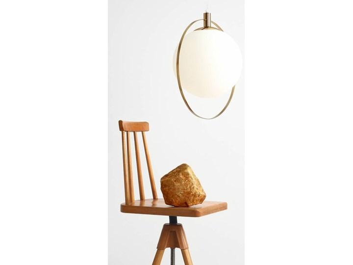 Designerska lampa wisząca Bersi Złoty Metal Lampa LED Szkło Kolor Biały