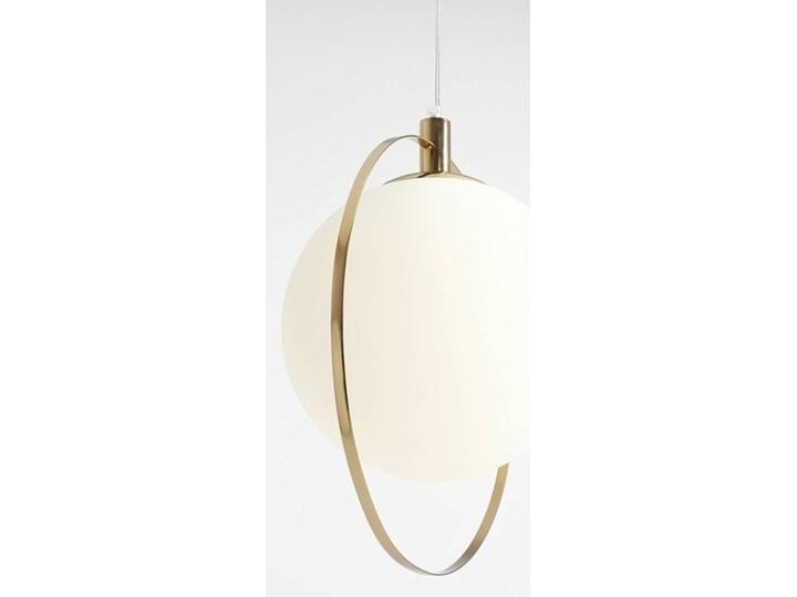 Designerska lampa wisząca Bersi Złoty Ilość źródeł światła 1 źródło Metal Szkło Lampa LED Kolor Biały