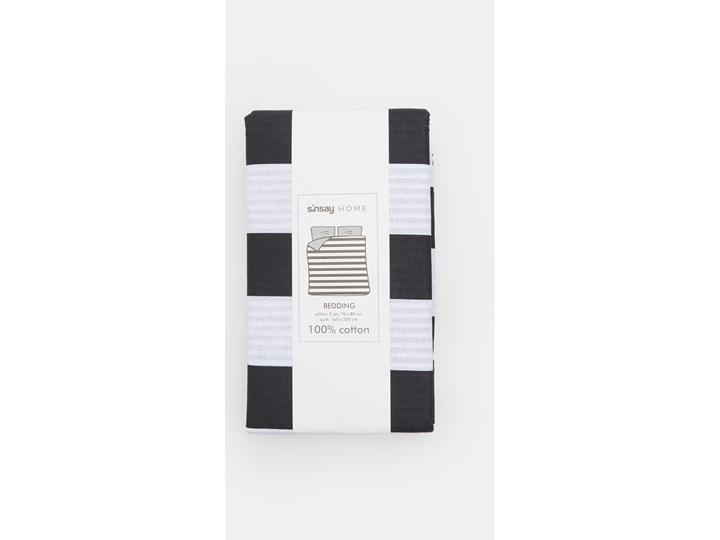 Sinsay - Komplet pościeli z bawełny 160x200 - Czarny