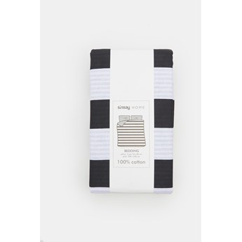 Sinsay - Komplet pościeli z bawełny 200x220 - Czarny