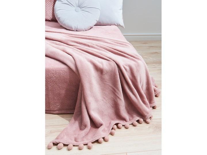 Sinsay - Koc z pomponami 130x160 - Różowy