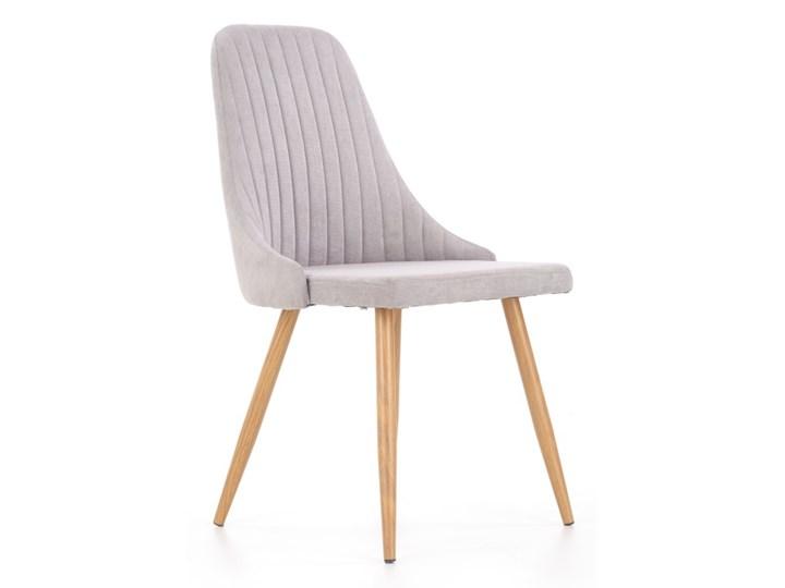 SELSEY Krzesło tapicerowane Muela jasnopopielate Drewno Metal Tkanina Stal Krzesło inspirowane Kategoria Krzesła kuchenne Pomieszczenie Jadalnia