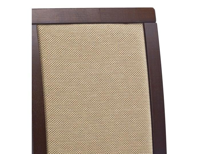 SELSEY Krzesło tapicerowane Buroli ciemny orzech Tkanina Drewno Styl Klasyczny Kategoria Krzesła kuchenne