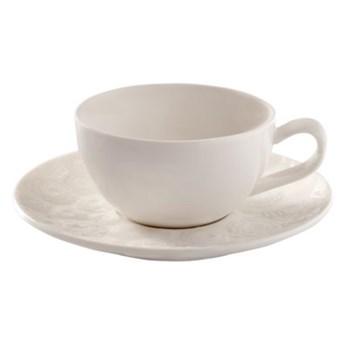 Filiżanka ze spodkiem różyczki DUKA SARA 200 ml porcelana