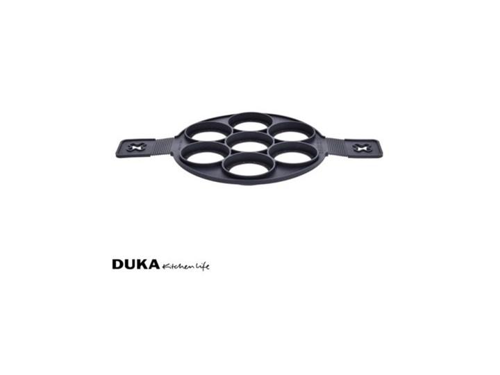 Forma do smażenia pancakes DUKA KRISPA silikon czarna Kolor Czarny