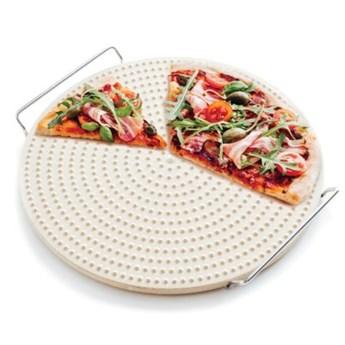 Kamień do pieczenia pizzy z wypustkami DUKA PIZZA STONE 34 cm ceramika