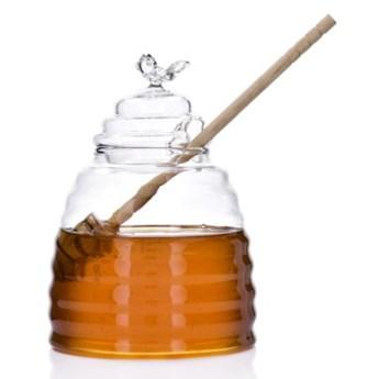Słoik na miód z łyżeczką DUKA HONEY 500 ml szkło