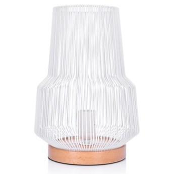 Lampa stołowa DUKA TILDA 21x31 cm biała metal