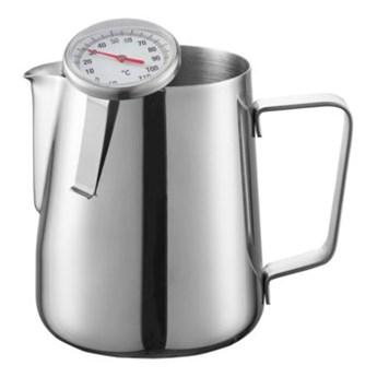 Dzbanek do mleka z termometrem DUKA BARISTA 600 ml srebrny stal nierdzewna