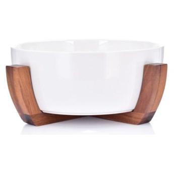 Misa sałatkowa z podstawą DUKA ACACIA 3000 ml biała porcelana