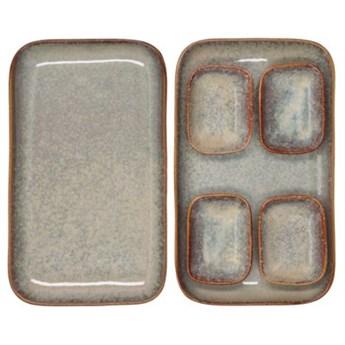 Zestaw do sushi dla 2 osób DUKA THORA 6 elementów brązowy kamionka