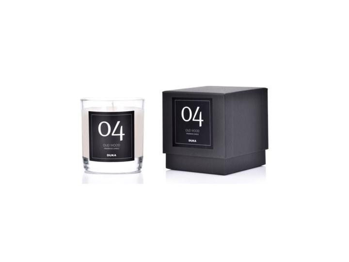 Świeca zapachowa No.4 Oud Wood DUKA ELEGANT 9 cm biała Kolor Biały