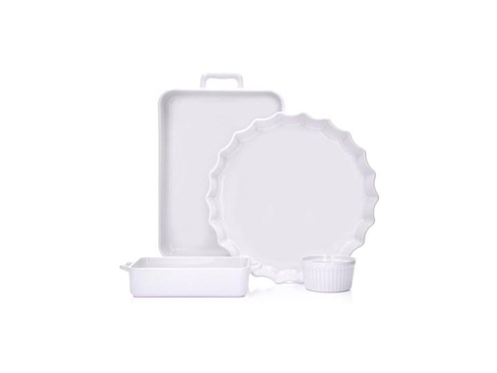 Forma do pieczenia prostokątna DUKA NIKLAS 23x12 cm biała kamionka Ceramika Kolor Biały Do ciasta Kategoria Formy i foremki