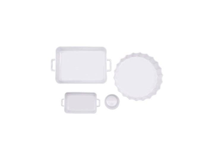 Forma do pieczenia prostokątna DUKA NIKLAS 23x12 cm biała kamionka Do ciasta Ceramika Kolor Biały