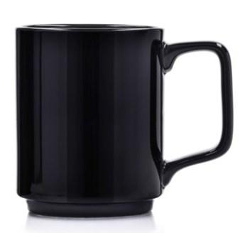 Kubek DUKA STAPEL BLACK 375 ml czarny porcelana