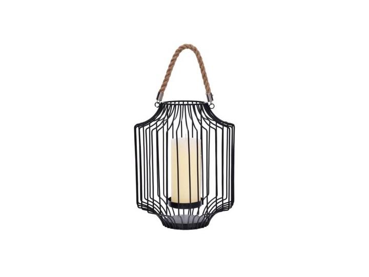 Lampion DUKA FAGLARE 22.5x28 cm czarny metal Świeca Kategoria Świeczniki i świece