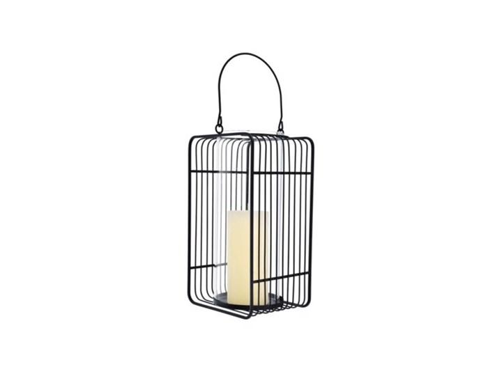 Lampion DUKA MODERN SCANDI 16x13x28 cm czarny metal Szkło Kategoria Świeczniki i świece