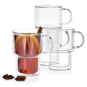 Zestaw szklanek do kawy i herbaty DUKA ASTRID 280 ml transparentny szkło