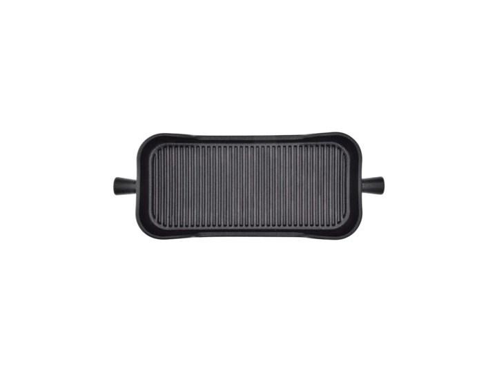 Naczynie do pieczenia taca DUKA HJALMAR 38x15 cm czarne kamionka Kolor Czarny Ceramika Kategoria Formy i foremki
