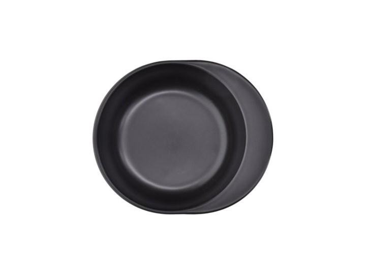 Forma do pieczenia okrągła DUKA HJALMAR 16x14 cm czarna kamionka Naczynie do zapiekania Ceramika Kolor Czarny
