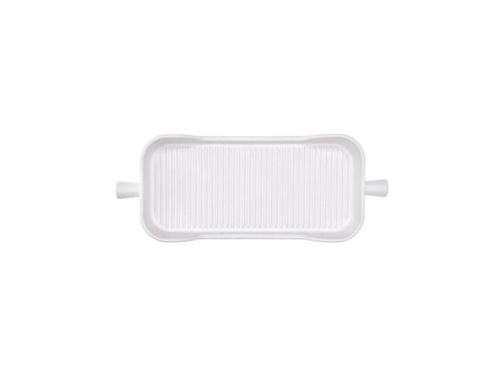 Naczynie do pieczenia taca DUKA HJALMAR 38x15 cm białe kamionka Naczynie do zapiekania Ceramika Kolor Biały