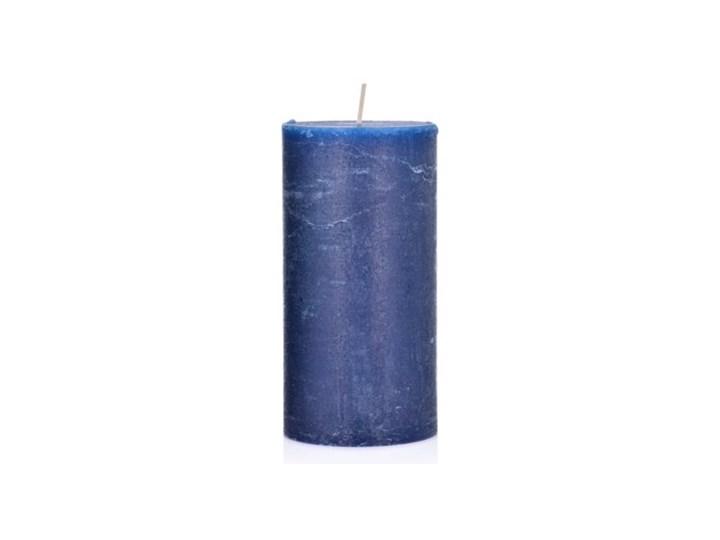 Świeca walec DUKA FRYST 15 cm granatowa parafina Kolor Granatowy Kategoria Świeczniki i świece