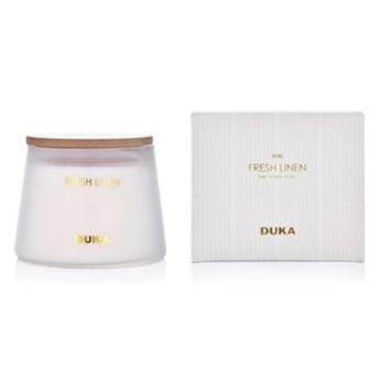 Świeca zapachowa sojowa Fresh Linen DUKA BERG 260 g biała