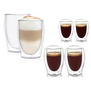 Zestaw 6 szklanek do kawy z podwójnymi ściankami dla 2 osób DUKA LISE szkło