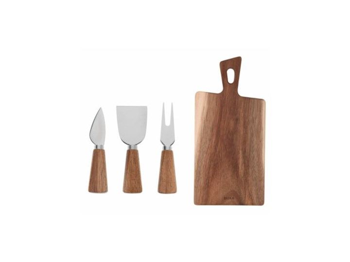 OST ZESTAW 4 ELEM. DO SERA AKACJA Zestaw desek Deska do krojenia Drewno Deska do serów Nieregularny Kategoria Deski kuchenne