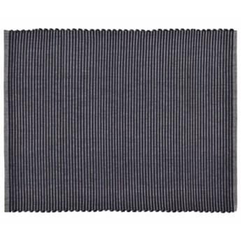 Podkładka prostokątna DUKA RIB czarna bawełna