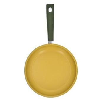 Patelnia z powłoką oliwną DUKA OLLI 28 cm żółta zielona stal nierdzewna