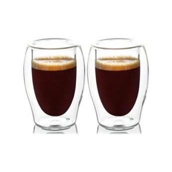 Zestaw szklanek do kawy DUKA LISE 130 ml podwójne dno szkło
