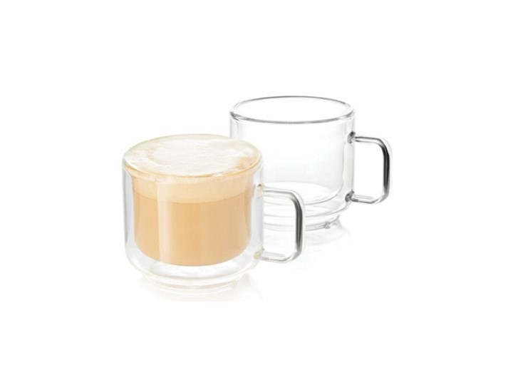 Zestaw szklanek do kawy i herbaty DUKA SVEN 2 sztuki 150 ml szkło Kategoria Szklanki Do herbaty Szklanki z uchwytem Komplet szklanek Kolor Przezroczysty