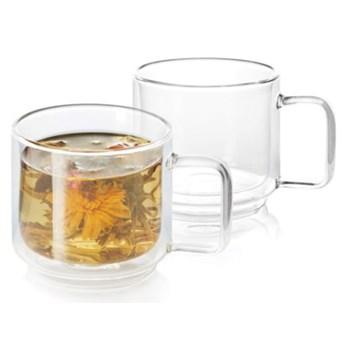 Zestaw szklanek do kawy i herbaty DUKA SVEN 2 sztuki 350 ml szkło