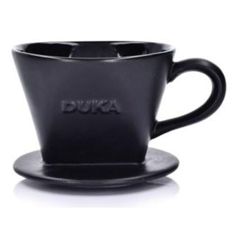 Zaparzacz do kawy przelewowy dripper DUKA DIP czarny porcelana