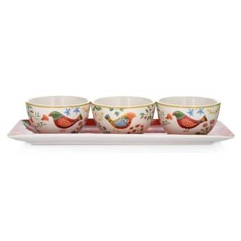 Zestaw miseczek z podstawką DUKA PARADISE ceramika